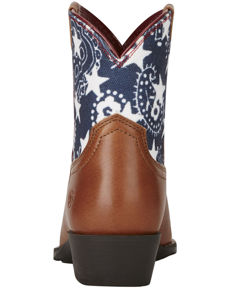 Ariat Girls' Stars & Stripes Boots - Snip Toe, Brown, hi-res