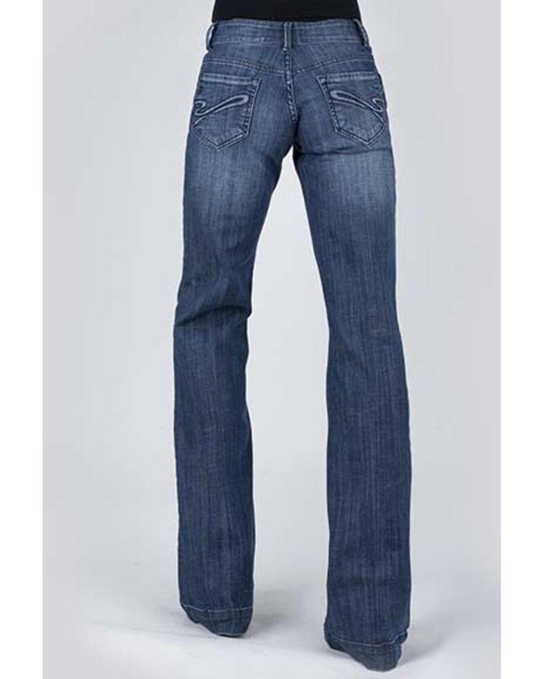Stetson Women's 214 Medium Wash Trouser Fit Jeans, Blue, hi-res