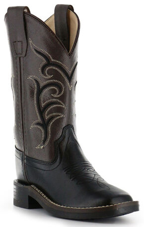Cody James Boys' Black Western Boots - Square Toe, Black, hi-res