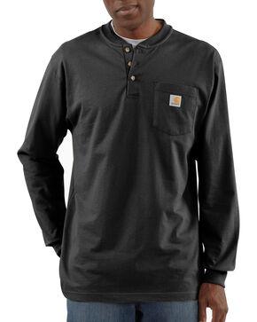 Carhartt Long Sleeve Work Henley Shirt - Big & Tall, Black, hi-res
