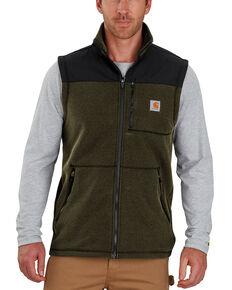 Carhartt Men's Fallon Fleece Vest , Olive, hi-res