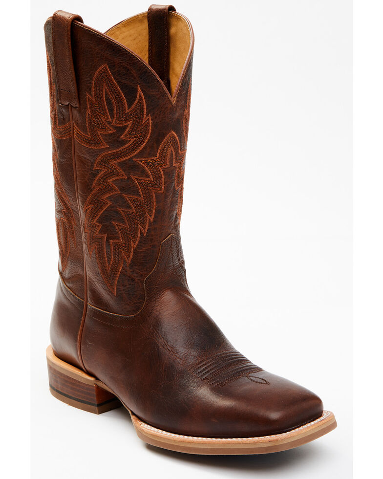 Cody James Men's Brown Heritage Western Boots - Wide Square Toe, Brown, hi-res