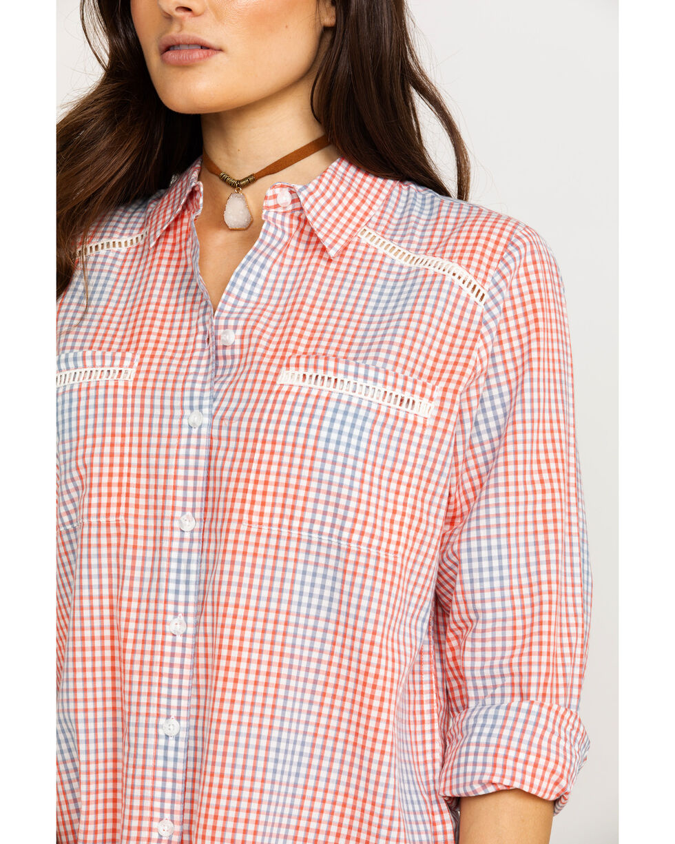 Ariat Women's Canyon Small Plaid Long Sleeve Western Shirt , Multi, hi-res