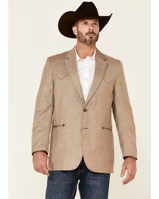 Circle S Men's Solid Tan Carson City Button-Front Sportscoat - Big , Tan, hi-res
