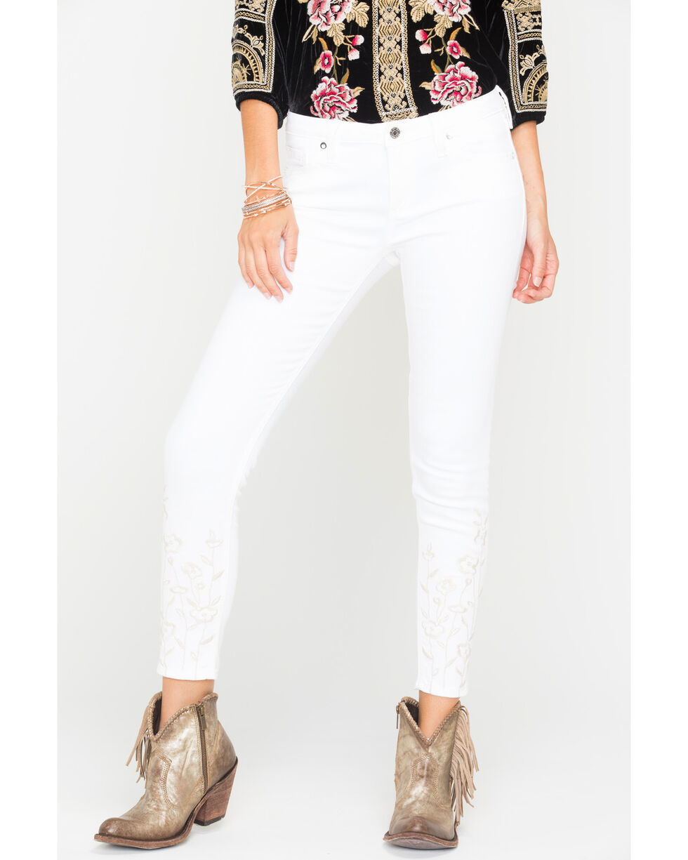 Miss Me Women's Endless Summer Mid-Rise Ankle Skinny Jeans , White, hi-res