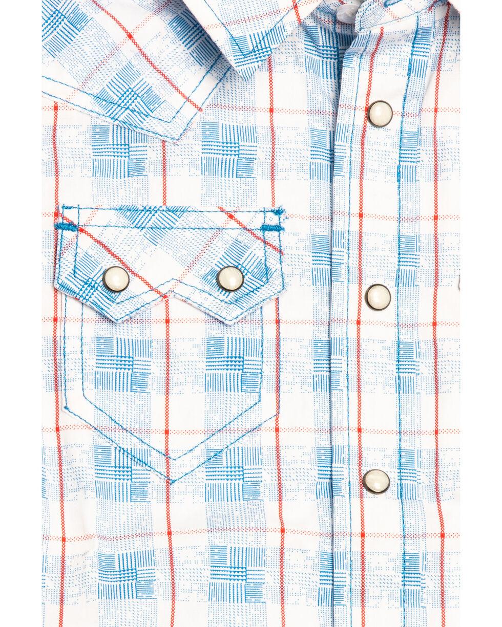 Cody James Toddler Boys' Crooks Cross Plaid Short Sleeve Western Shirt , White, hi-res