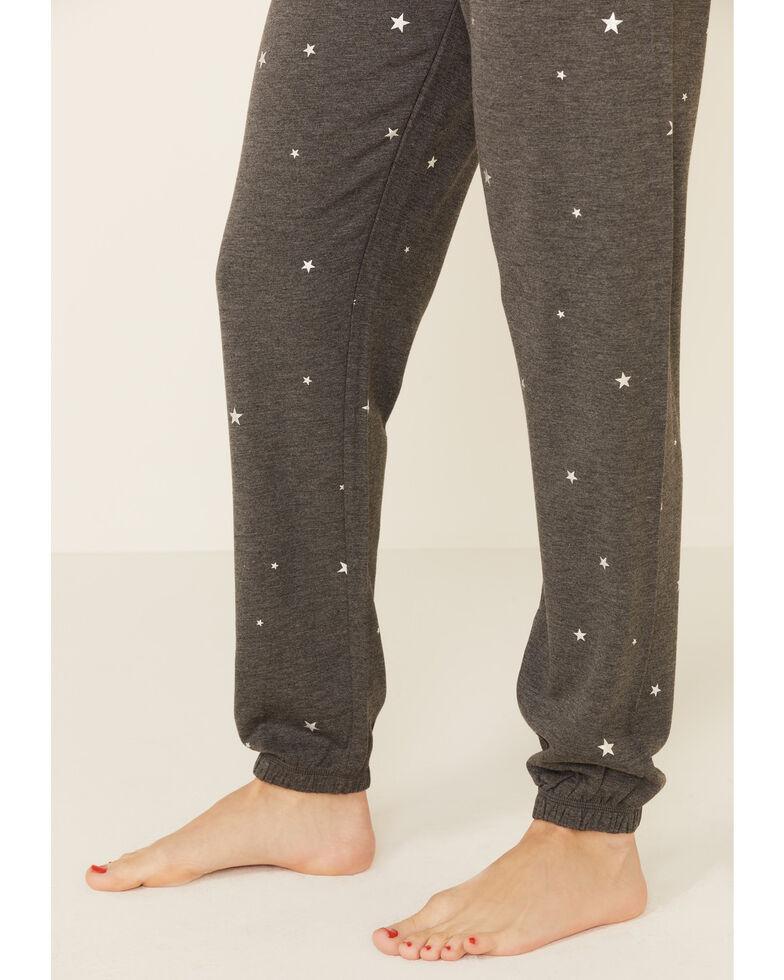 PJ Salvage Women's Shining Star Sweatpants, Charcoal, hi-res