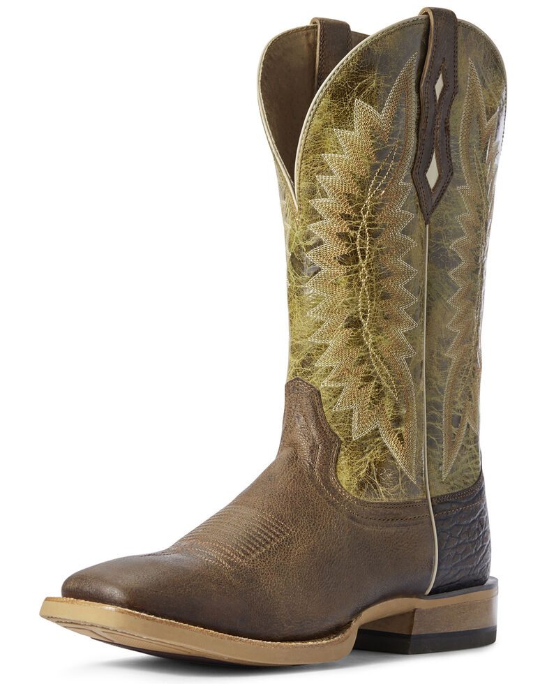 Ariat Men's Record Setter Western Boots - Square Toe, Brown, hi-res