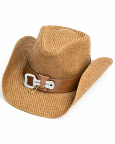 Cody James Men's Kelsey Western Straw Hat , Brown, hi-res
