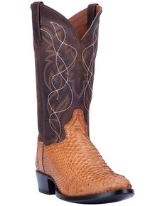 Dan Post Men's Manning Western Boots - Medium Toe, Honey, hi-res