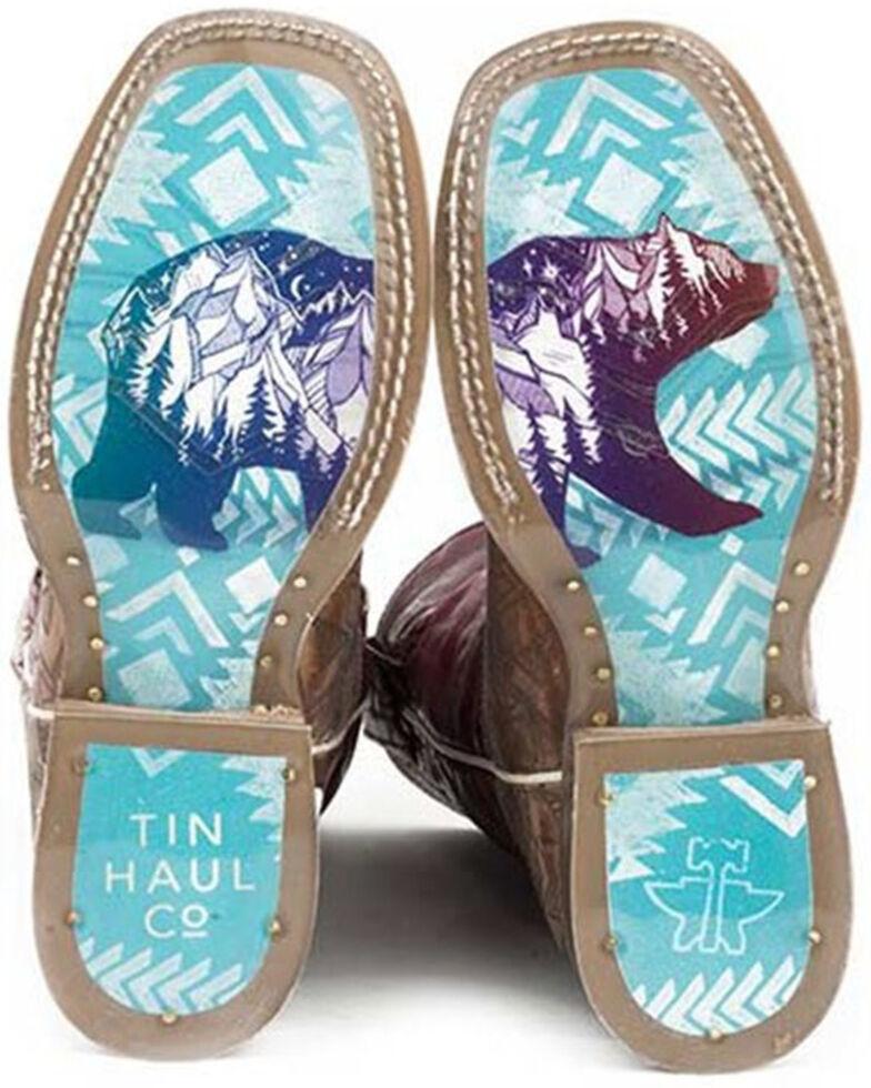Tin Haul Boys' Free Spirit Western Boots - Square Toe, Tan, hi-res