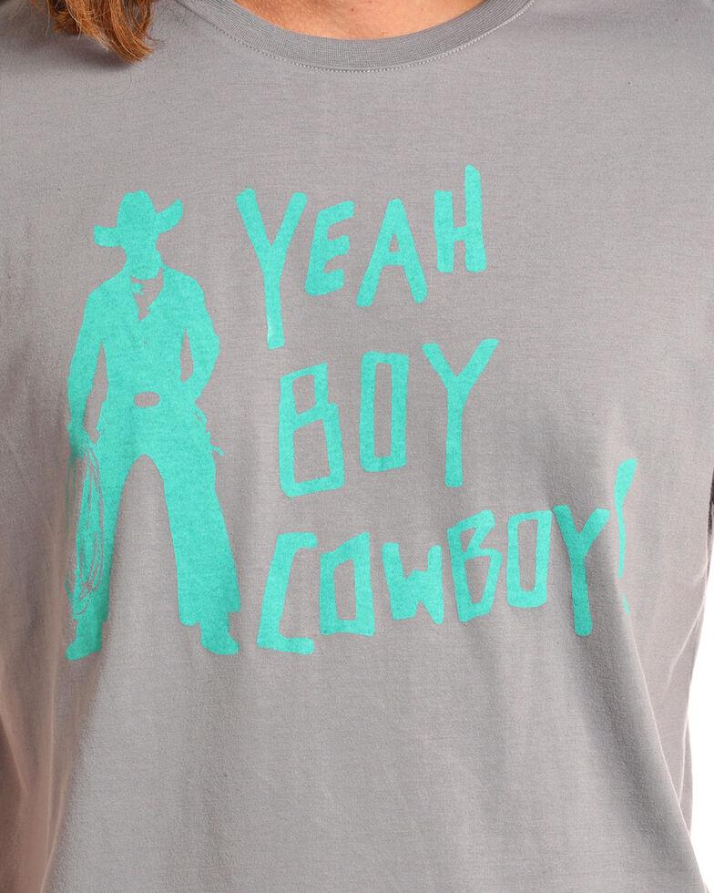 Dale Brisby Men's Yeah Boy Cowboy Tee, Grey, hi-res
