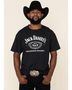 Jack Daniel's Black Cartouche Brand Logo Graphic T-Shirt , Black, hi-res