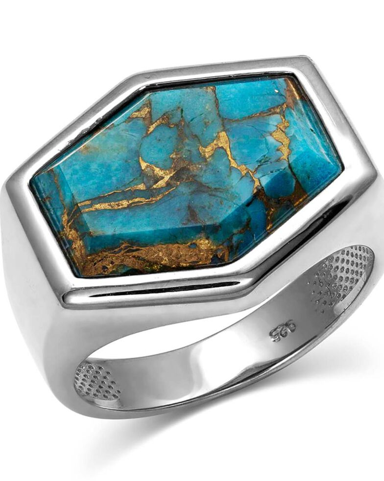 Montana Silversmiths Women's Sterling Lane Fearless Turquoise Ring, Rust Copper, hi-res