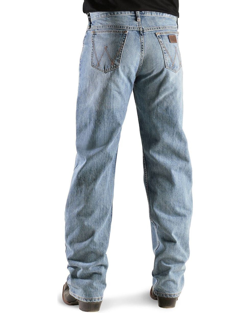 "Wrangler Jeans - 20X Competition Laser Blue Denim Relaxed Fit - 38"" Tall Inseams, Bleach Indigo, hi-res"