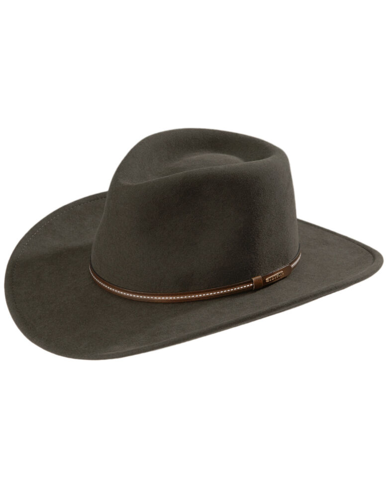 Stetson Gallatin Sage Green Crushable Wool Felt Hat, Sage, hi-res