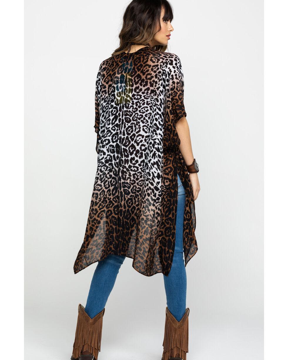 American Attitude Women's Leopard Duster Kimono, Leopard, hi-res