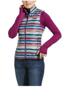 Ariat Women's Serape Ideal 3.0 Down Vest, Multi, hi-res