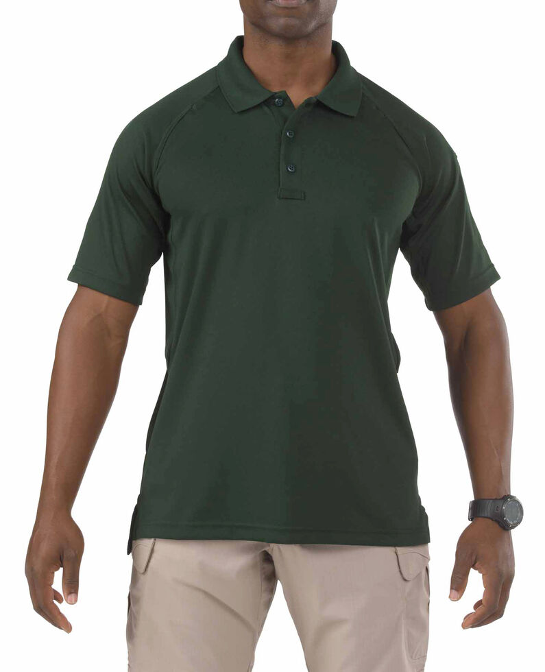 5.11 Tactical Performance Polo Short Sleeve Shirt - 3XL, Hunter Green, hi-res