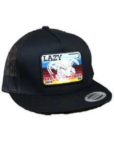 Lazy J Ranchwear Men's Black Serape Elevation Mesh Back Ball Cap , Black, hi-res