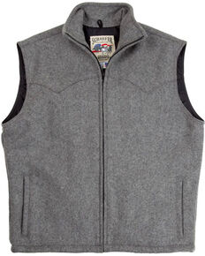 Schaefer Men's Heather Grey Arena Melton Wool Vest - 2XL, Grey, hi-res