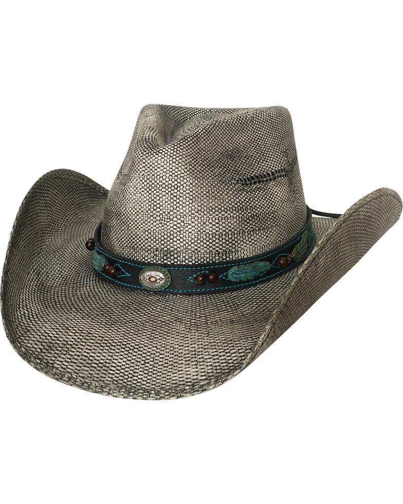 Bullhide Men's Black Rampage Feather Band Straw Cowboy Hat , Black, hi-res