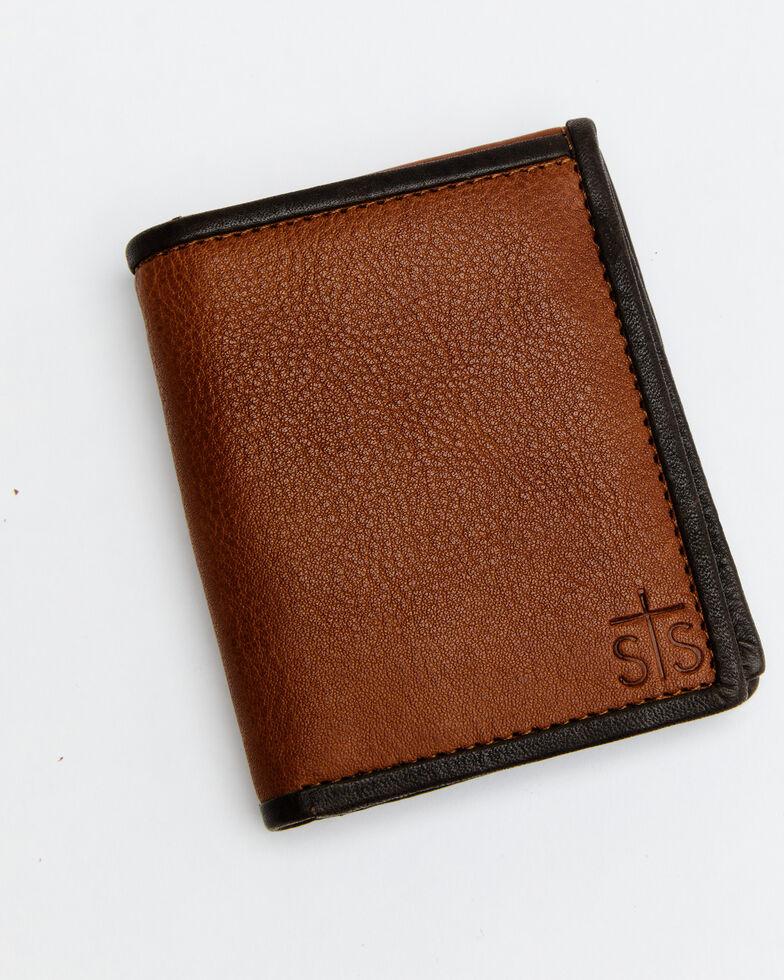 STS Ranchwear Men's Frontier Hidden Cash Wallet *BAD*, Brown, hi-res