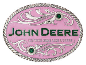 Montana Silversmiths Nothing Runs Like A Deere Attitude Belt Buckle, Silver, hi-res