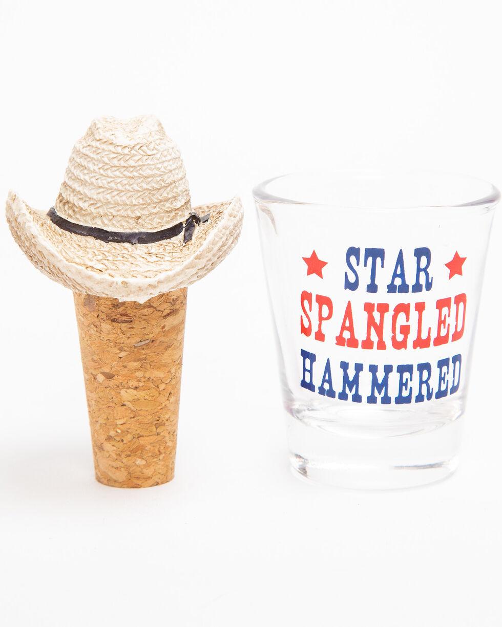 BB Ranch Star Spangled Hammered Shot Glass, Multi, hi-res