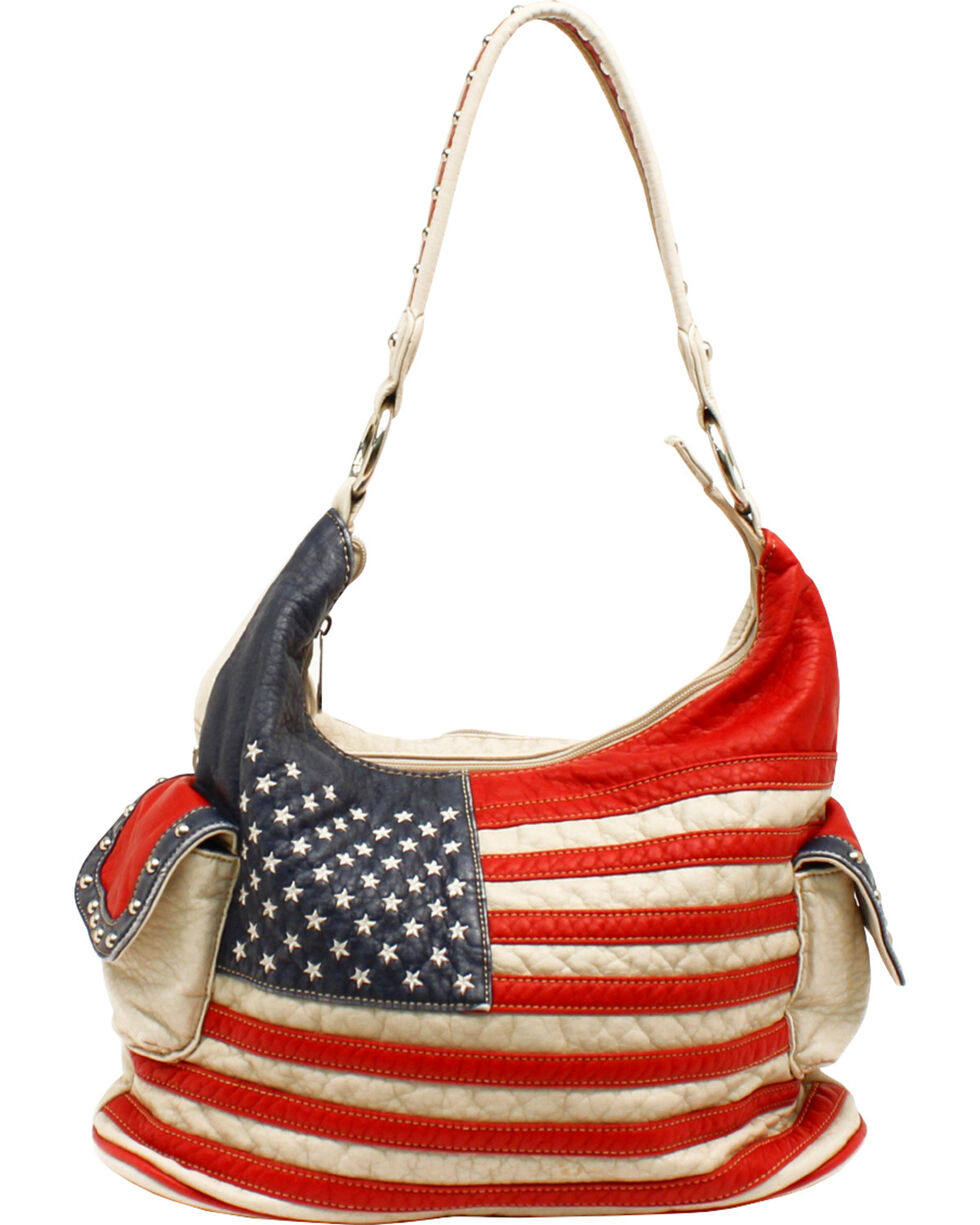 Blazin Roxx Women's Gun Toting American Bucket Bag, Patriotic, hi-res