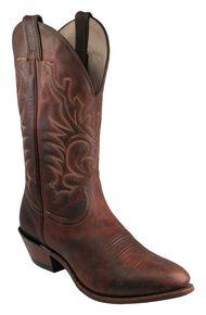 Boulet Men's Western Boots - Medium Toe, Copper, hi-res