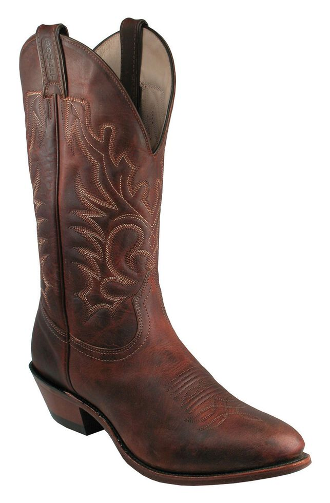 Boulet Men's Western Boots - Medium Toe, Copper, hi-res