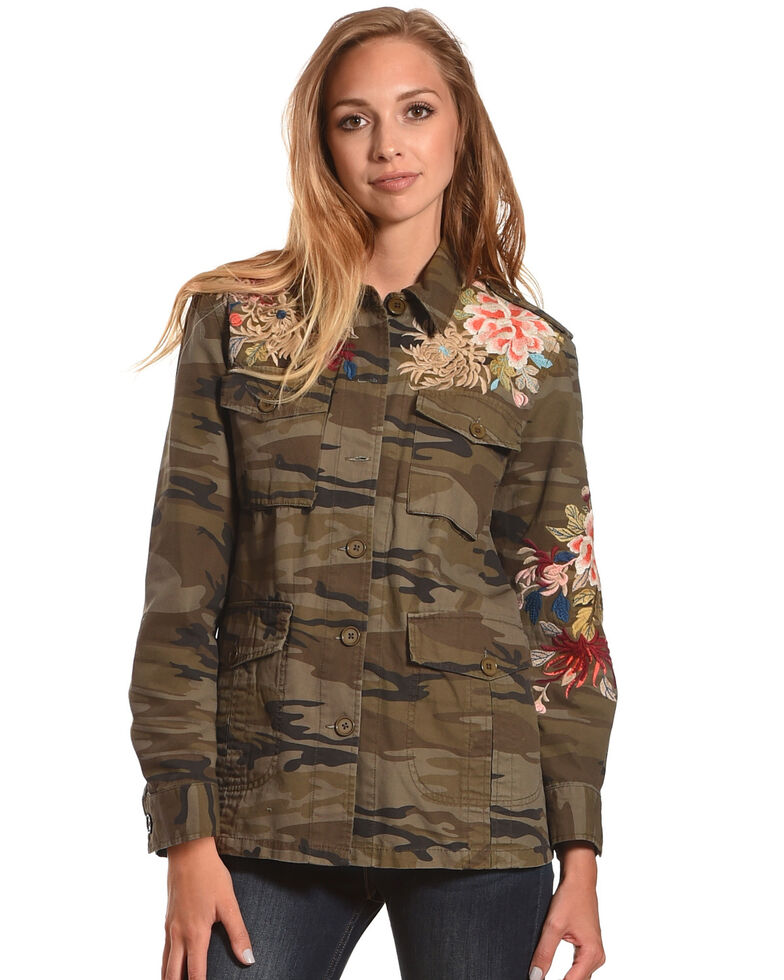 Johnny Was Women's Camo Stella Military Jacket , Camouflage, hi-res