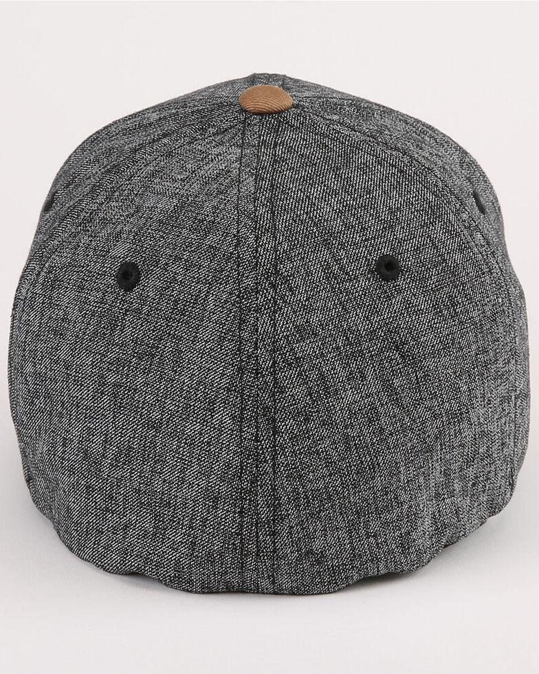 Cinch Men's Color Blocked Flex Fit Ball Cap , Heather Grey, hi-res