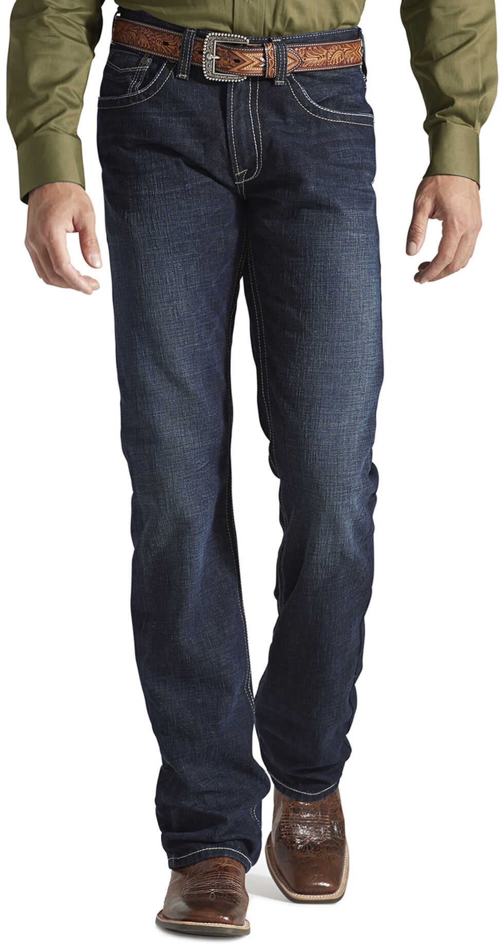 Ariat Denim Jeans - M5 Roadhouse Relaxed Fit, Med Wash, hi-res