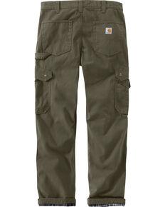Carhartt Men's Green Flannel Lined Ripstop Cargo Pants - Straight Leg , Moss Green, hi-res