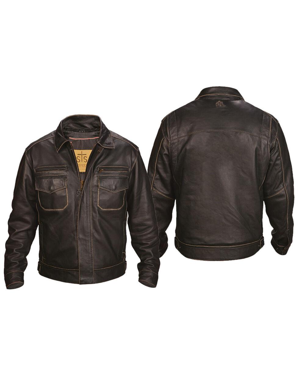 STS Ranchwear Men's Brown Rambler Jacket , Brown, hi-res