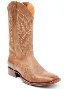 Cody James Men's Blue Vintage Western Boots - Wide Square Toe, Brown, hi-res