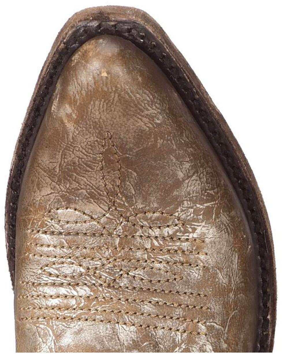 Liberty Black Women's Buffed Metal Concho Fringe Boots, Steel, hi-res