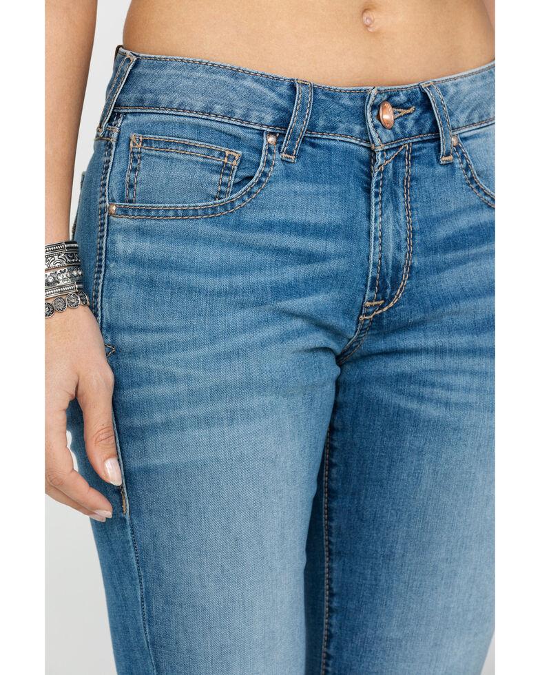 Ariat Women's Ultra Stretch Violet Pocket Boot Jeans , Blue, hi-res