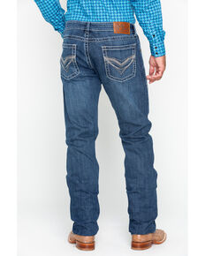 Rock 47 by Wrangler Men's Doo Wop Straight Slim Jeans, Blue, hi-res