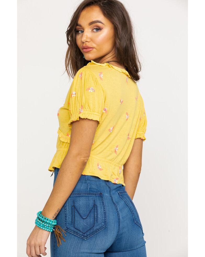 Free People Women's Full Bloom Top, Yellow, hi-res