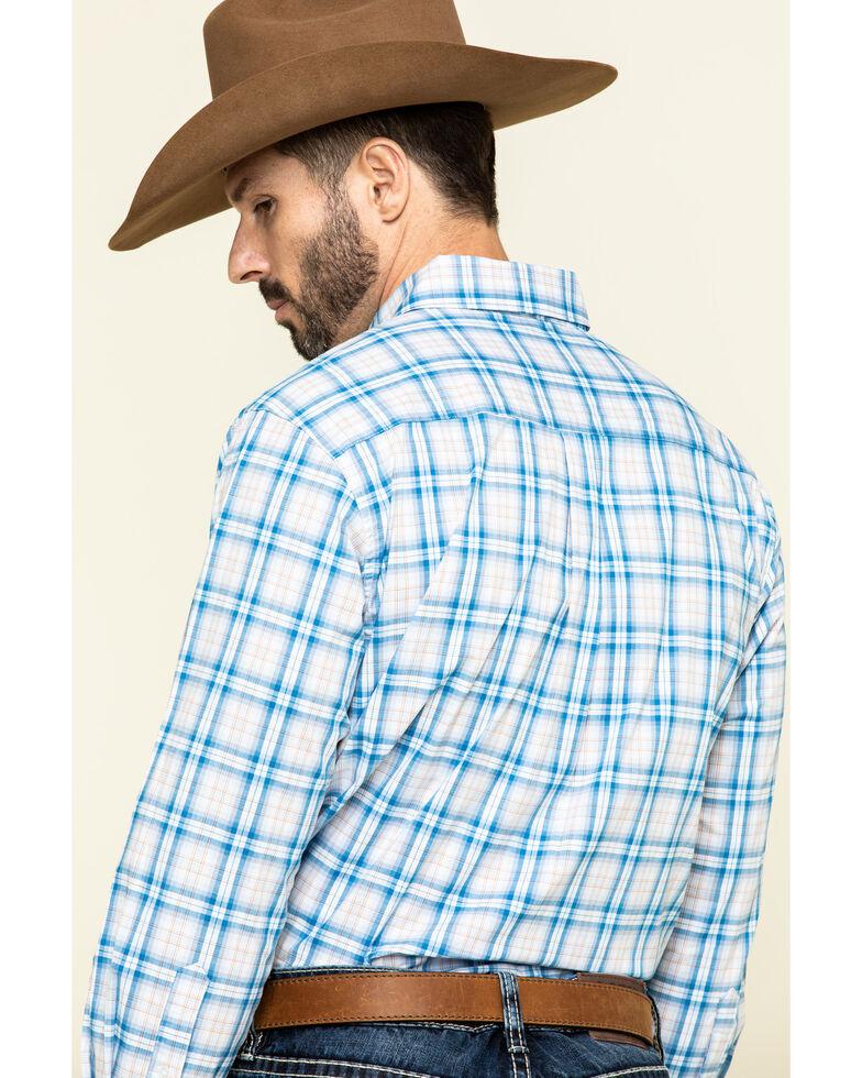 Ely Walker Black Label Men's Blue Med Plaid Long Sleeve Western Shirt , Blue, hi-res