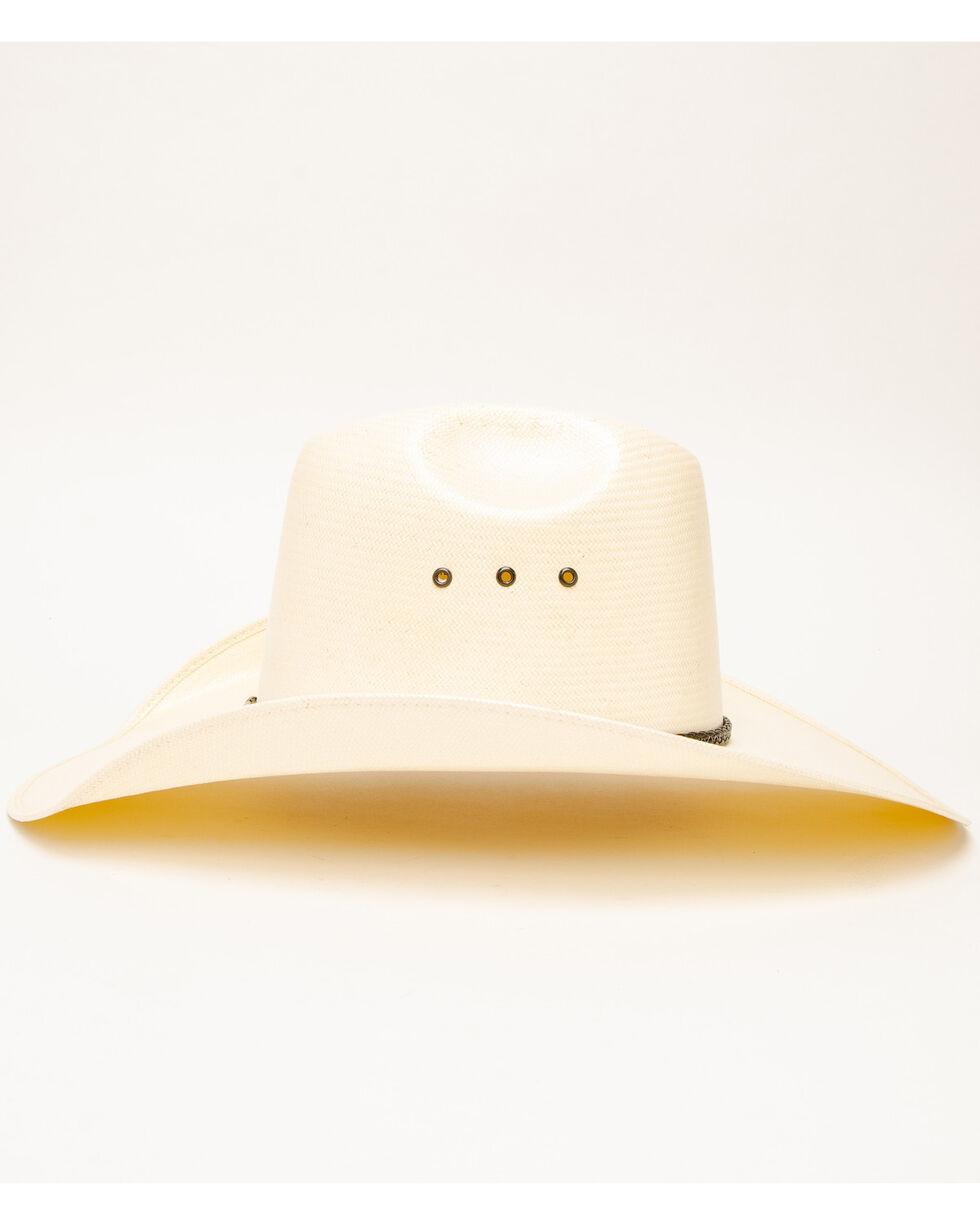Rodeo King Men's Quenten Straw Hat, Natural, hi-res