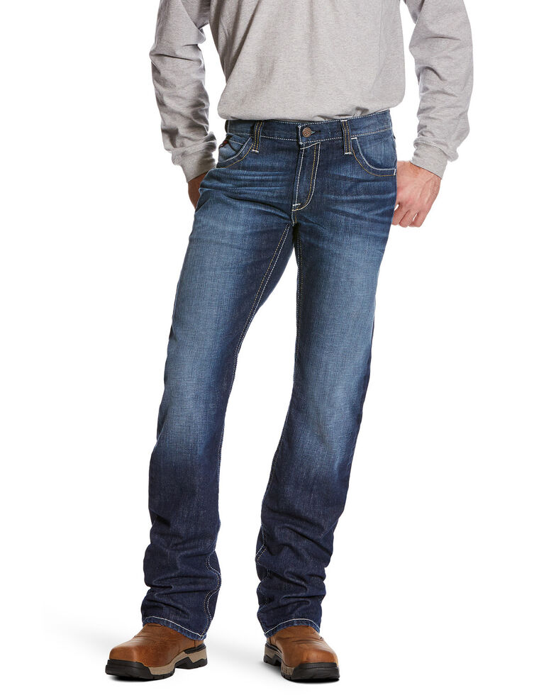 Ariat Men's M5 Ryley Slim Stackable Straight Leg Work Jeans - Big, Blue, hi-res