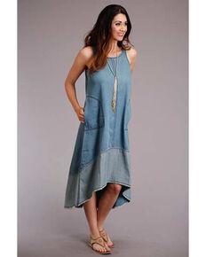 Studio West Women's Blue Hi Lo Swing Dress, Blue, hi-res