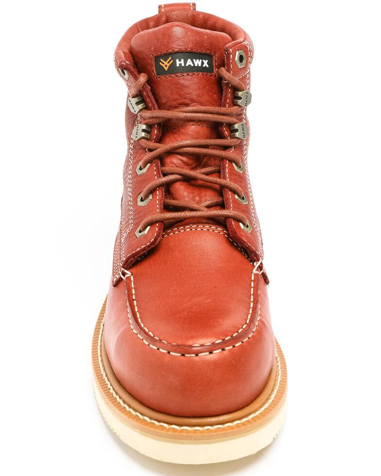 Hawx Men's Grade Moc Wedge Work Boots - Composite Toe, Red, hi-res