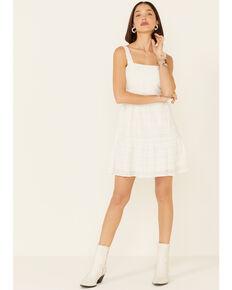 Sadie & Sage Women's Waist Tie Dress, White, hi-res