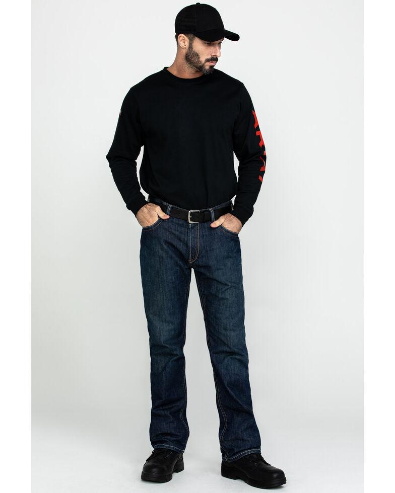 Ariat Shale Men's Flame Resistant Bootcut Work Jeans, Denim, hi-res