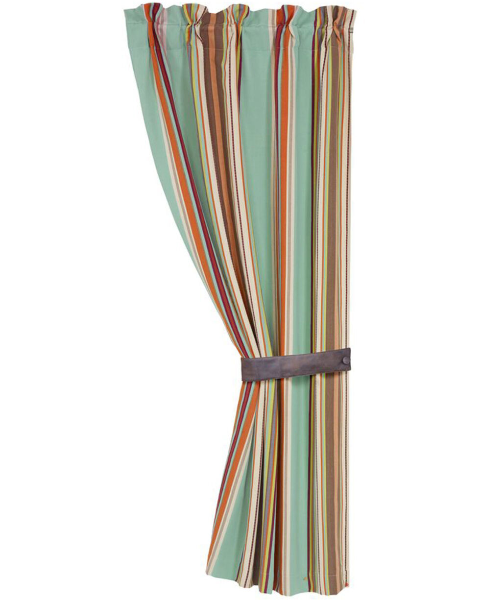 HiEnd Accents Turquoise Serape Curtain , Turquoise, hi-res